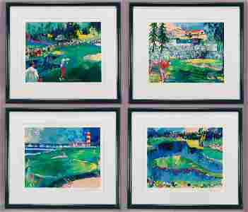 """(4) LeRoy Neiman from """"The Big Time Golf Suite"""""""