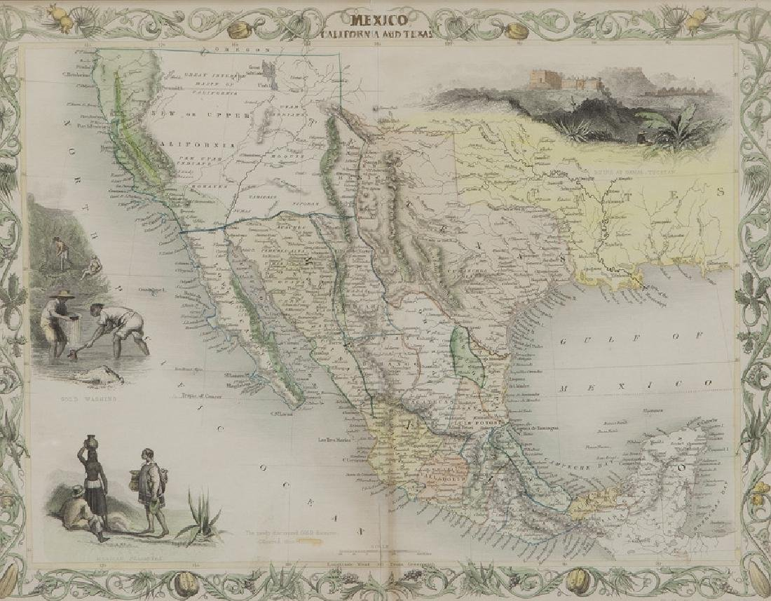 Map of Mexico, California and Texas, - 2