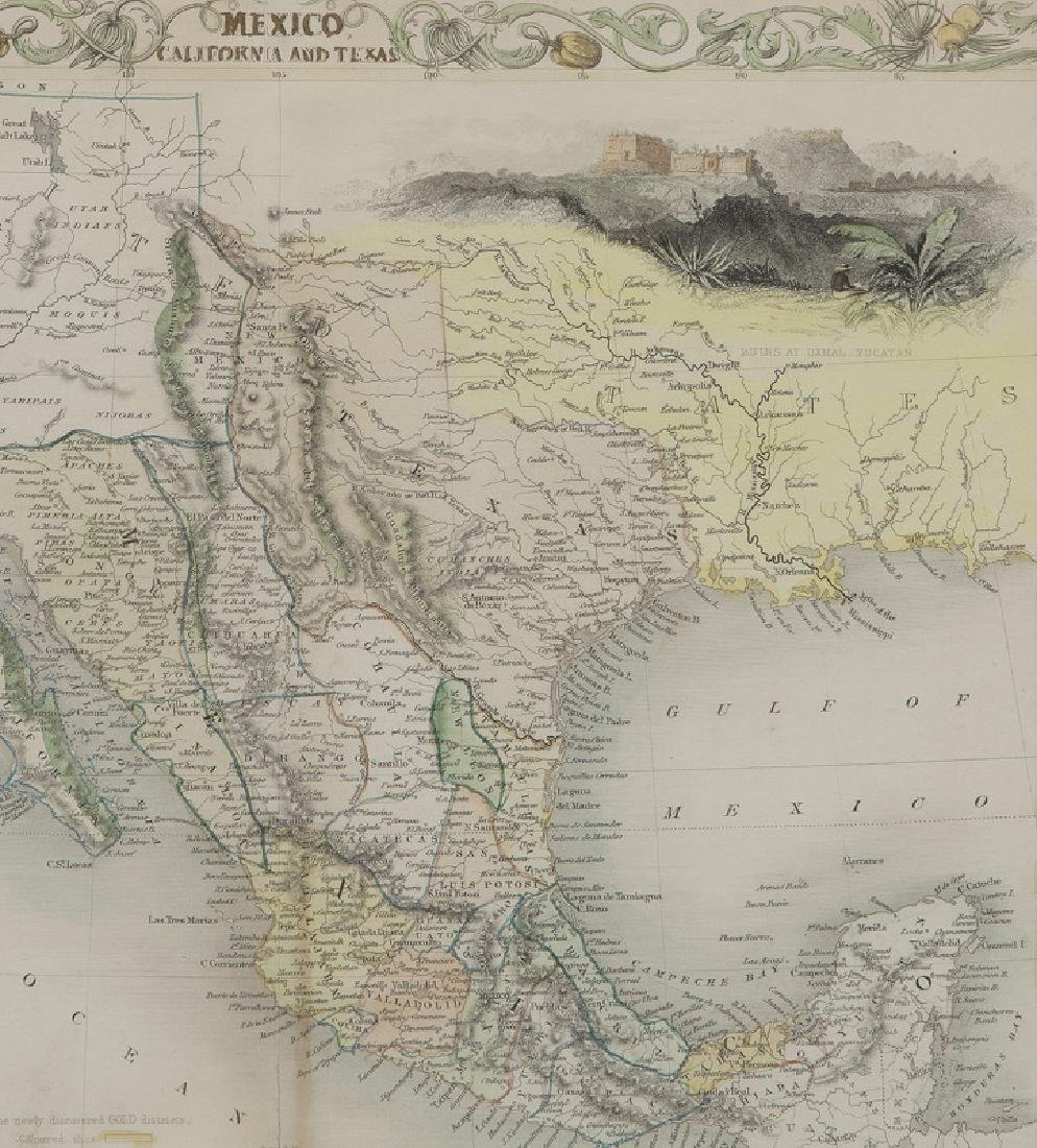 Map of Mexico, California and Texas, - 3