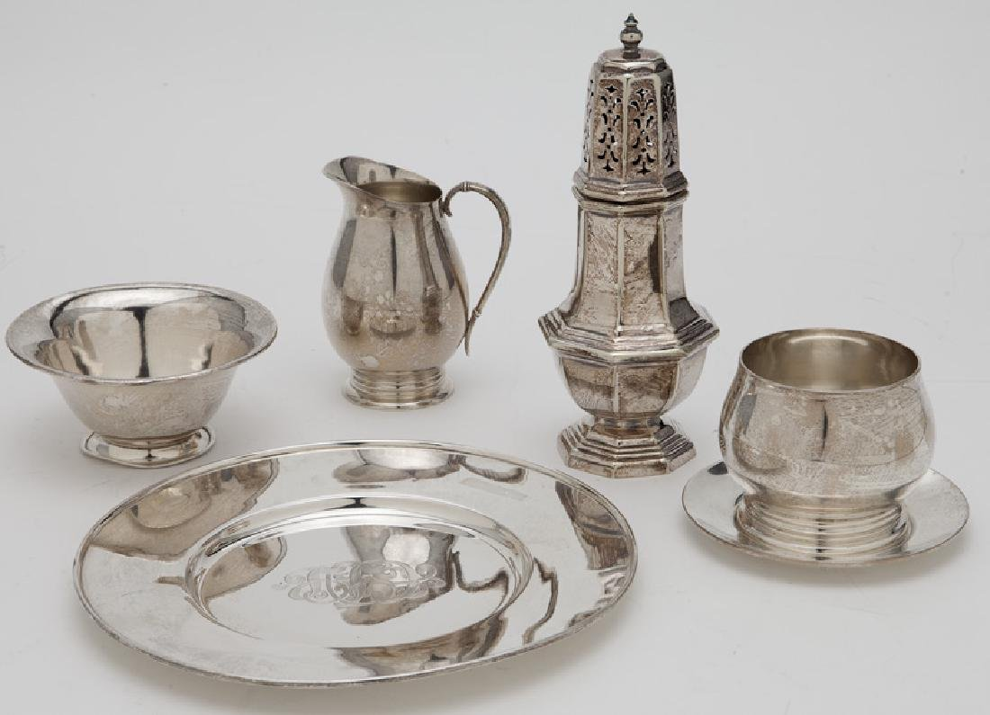Group of sterling table articles,