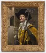 """Alex de Andreis """"Cavalier in Gold Jacket with"""