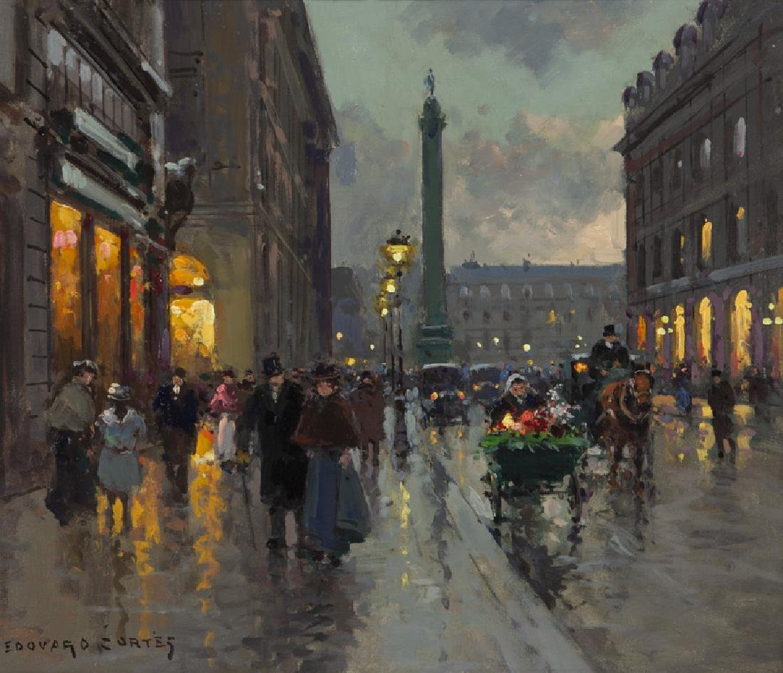 """Edouard Cortes """"Rue de la Paix et Place Vendome"""""""