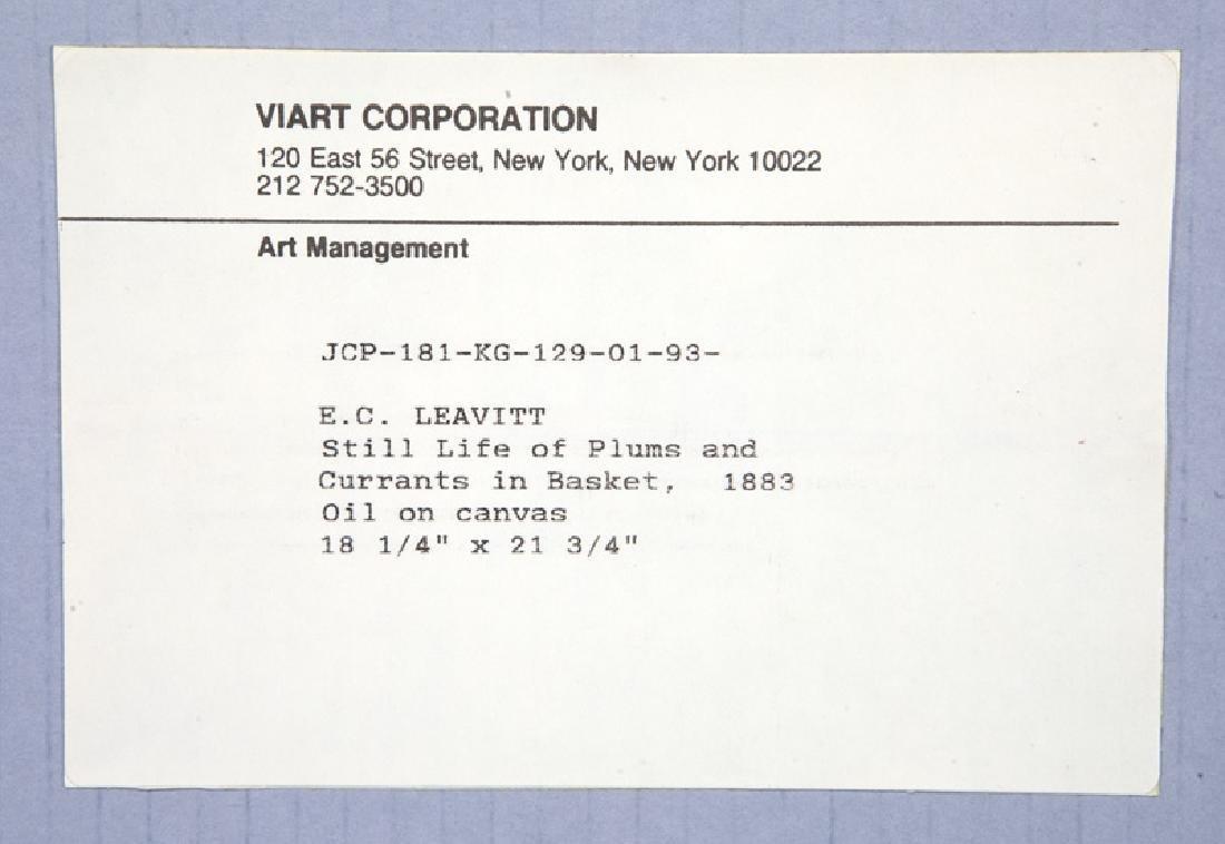 """Edward Chalmers Leavitt """"Still Life of - 7"""