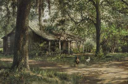"Clark Hulings ""Windrush Plantation"" oil"