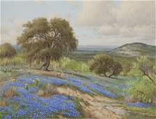 "Porforio Salinas ""Texas Bluebonnets"" oil"