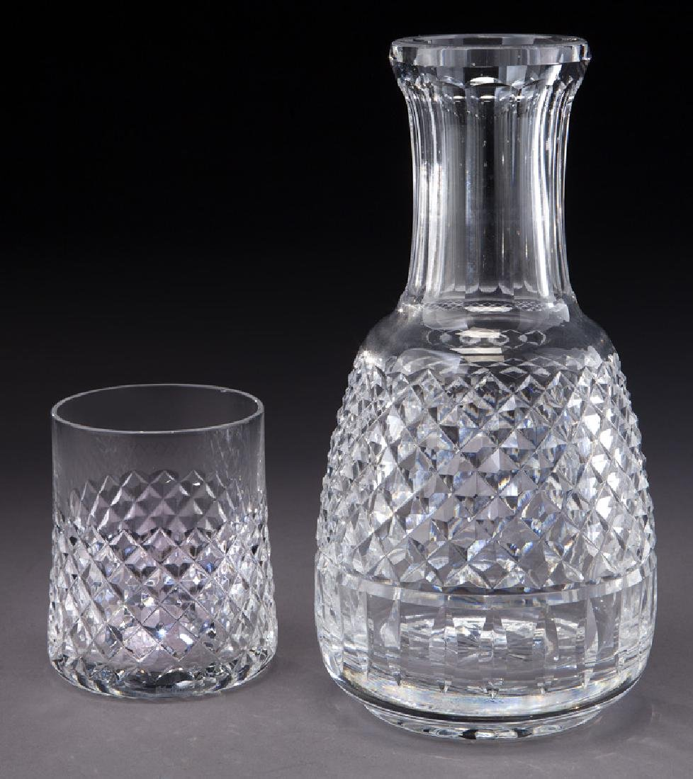 Waterford decanter and glass.