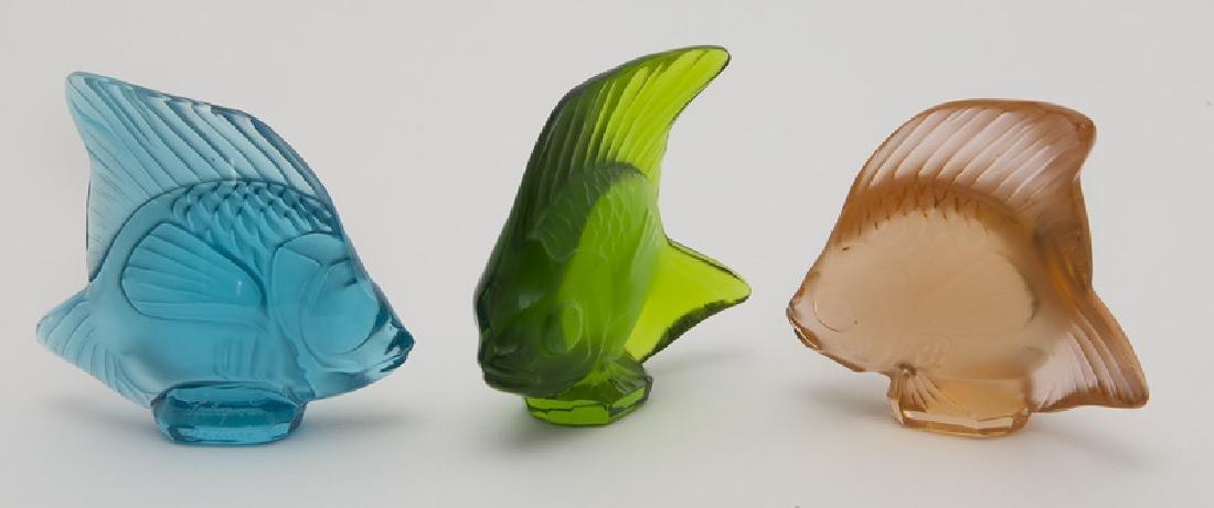 (24) Lalique Poisson fish figures - 5