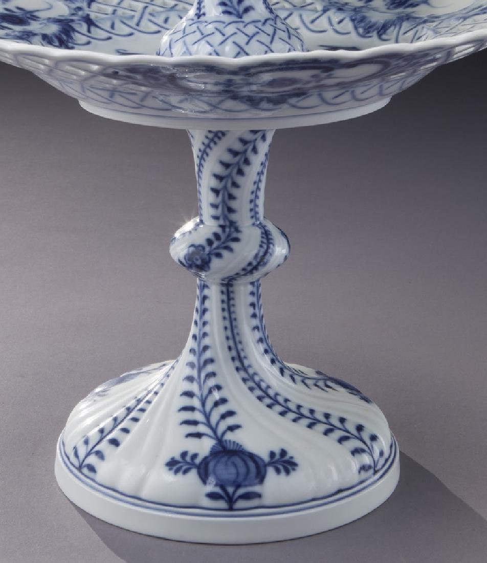 Pr. Meissen Blue Onion pattern 2-tier dessert - 6