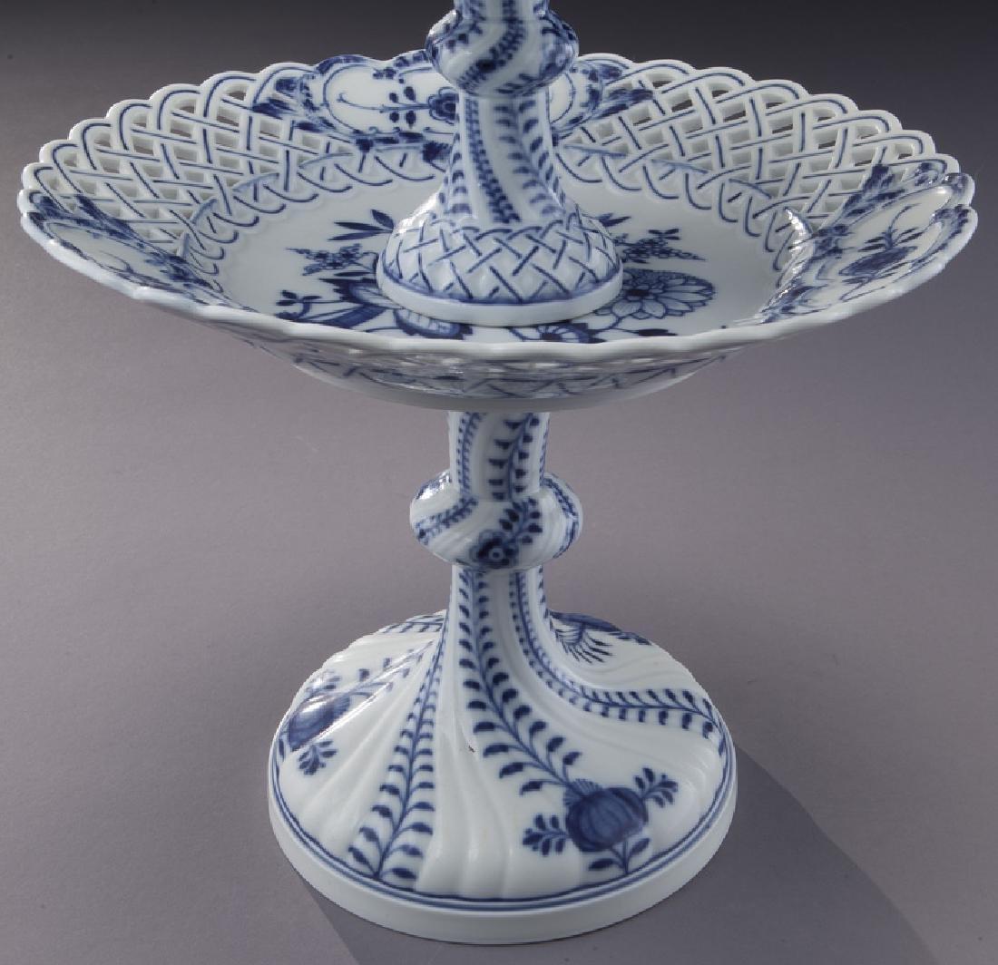 Pr. Meissen Blue Onion pattern 2-tier dessert - 8