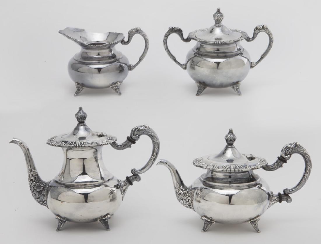 (4) Pc. Sterling coffee & tea service