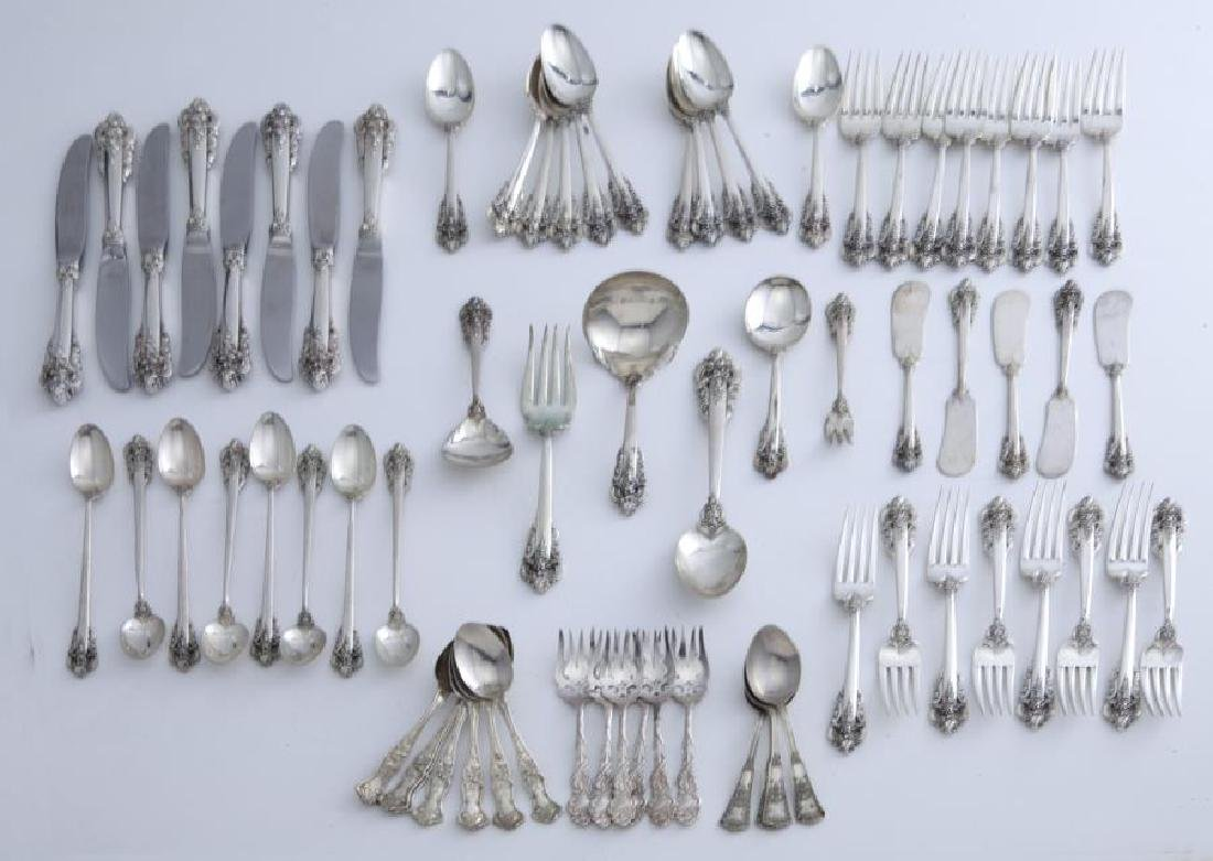 (54) Pcs. Wallace Grand Baroque sterling flatware,