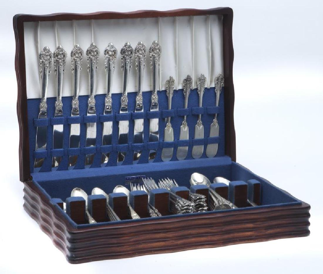 (54) Pcs. Wallace Grand Baroque sterling flatware, - 4