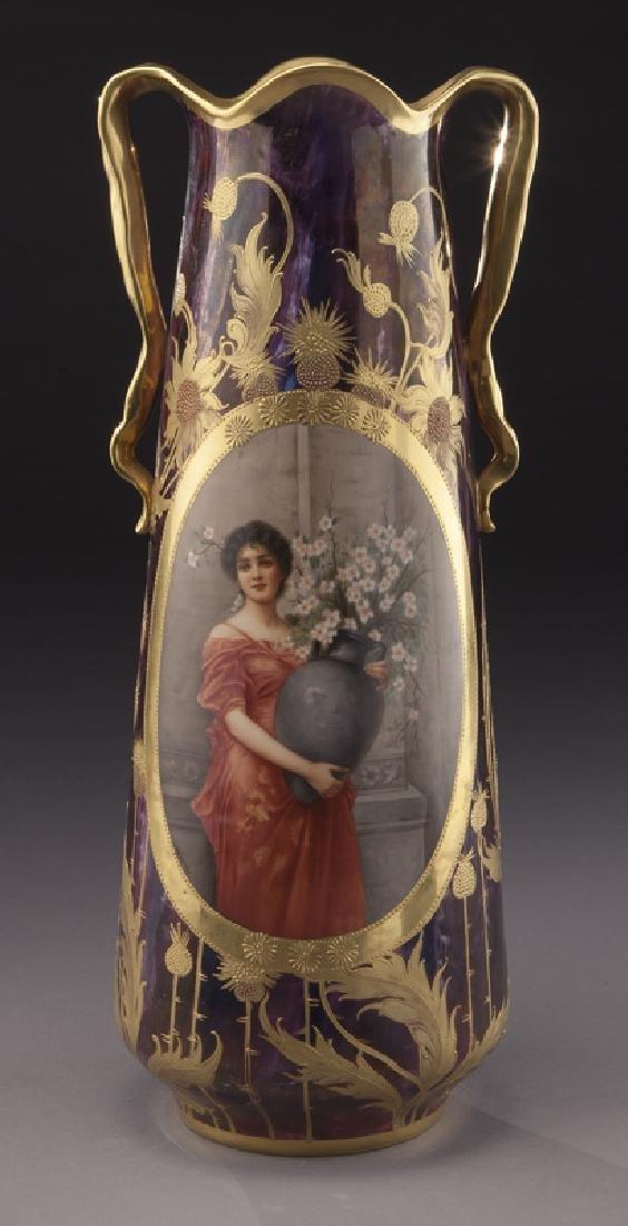 Monumental Royal Vienna porcelain vase