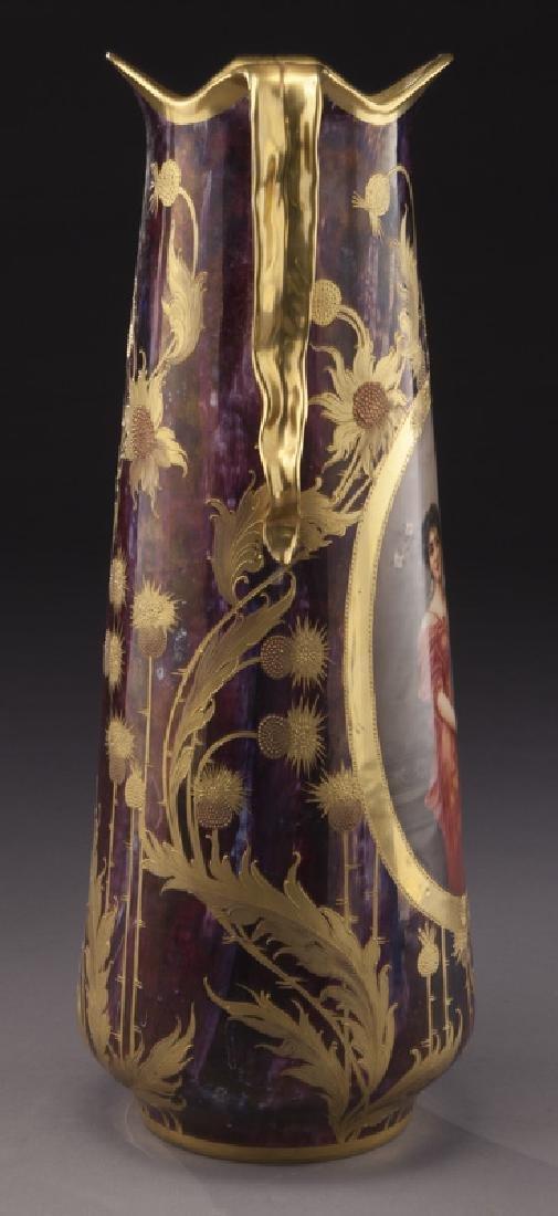 Monumental Royal Vienna porcelain vase - 4