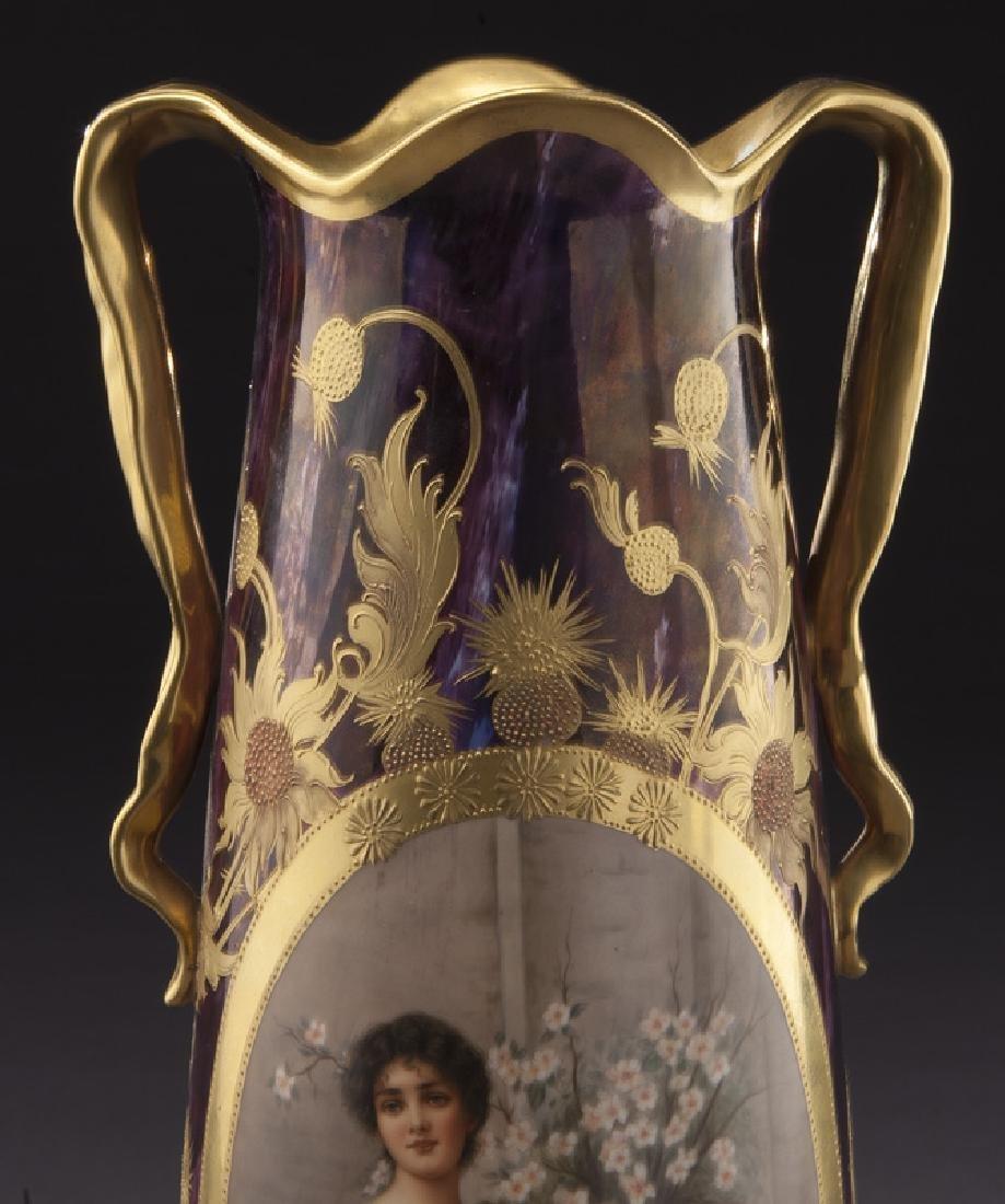 Monumental Royal Vienna porcelain vase - 5