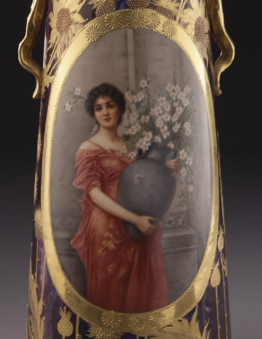 Monumental Royal Vienna porcelain vase - 6