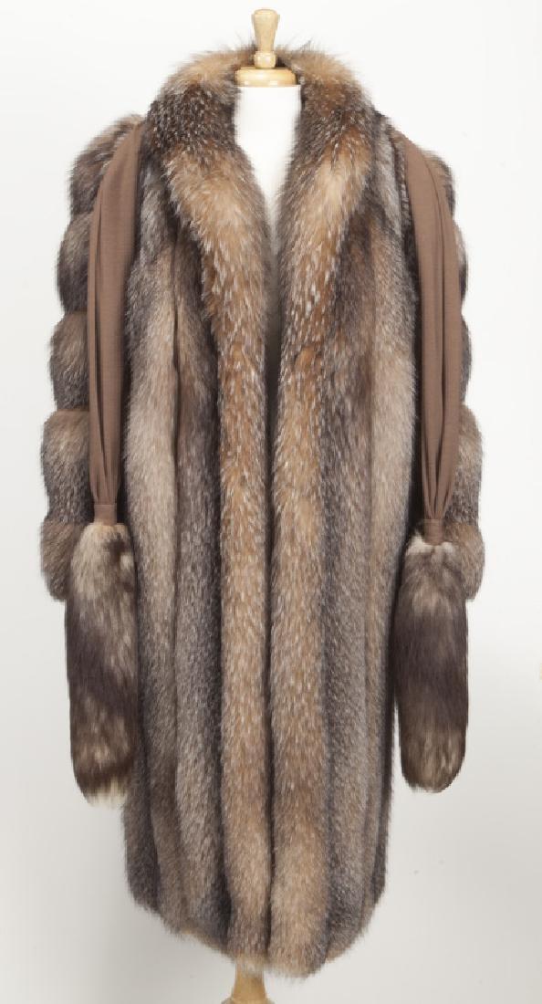 Szor-Diener full length fox fur coat