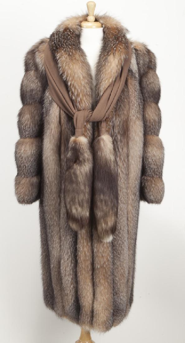 Szor-Diener full length fox fur coat - 2