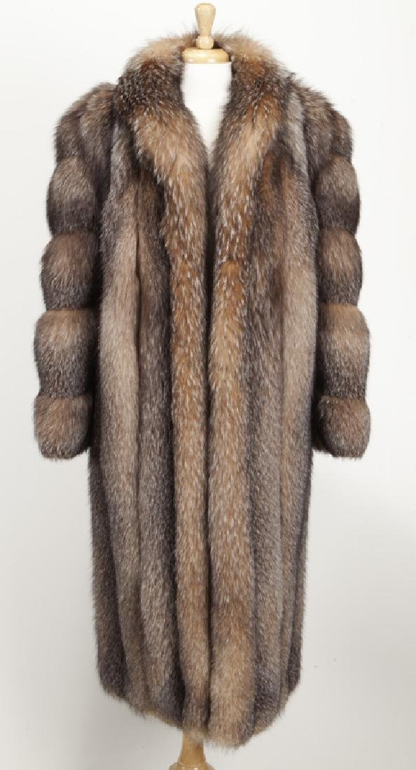 Szor-Diener full length fox fur coat - 3