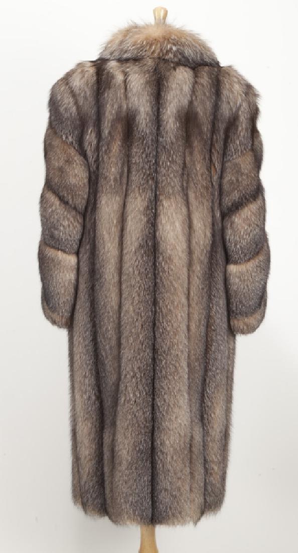 Szor-Diener full length fox fur coat - 4