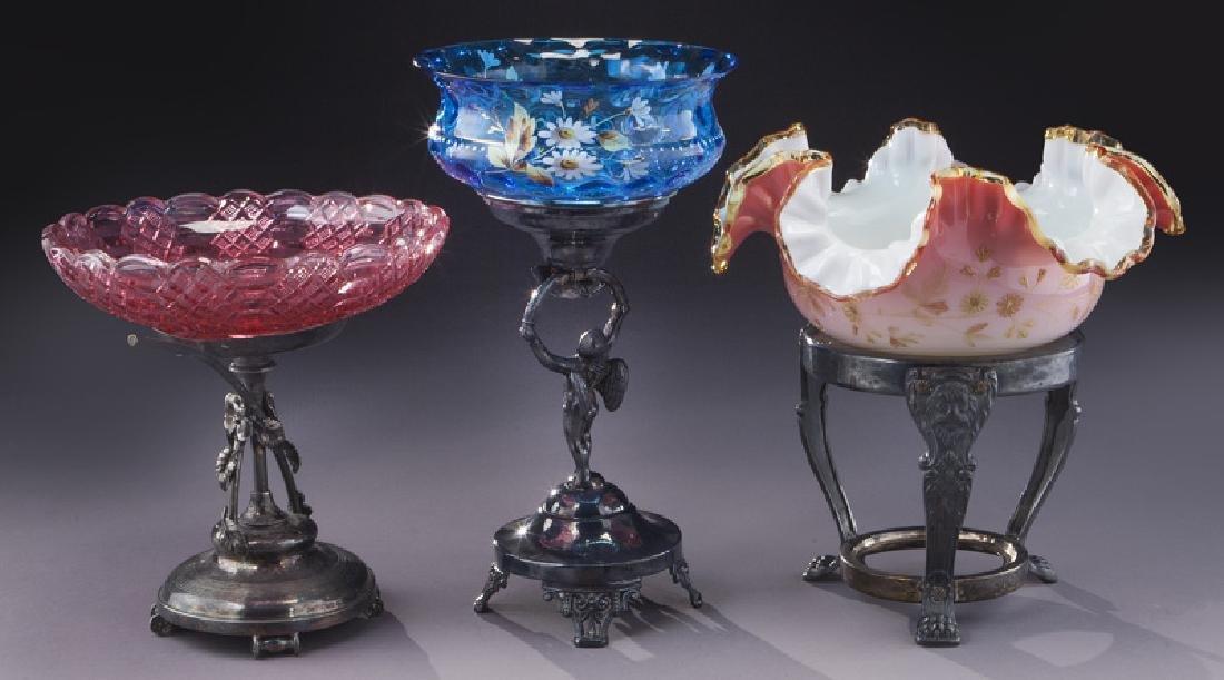(6) Victorian bride's baskets, - 4