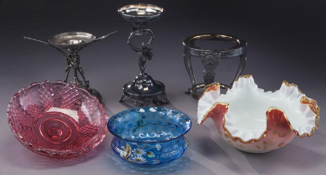 (6) Victorian bride's baskets, - 5
