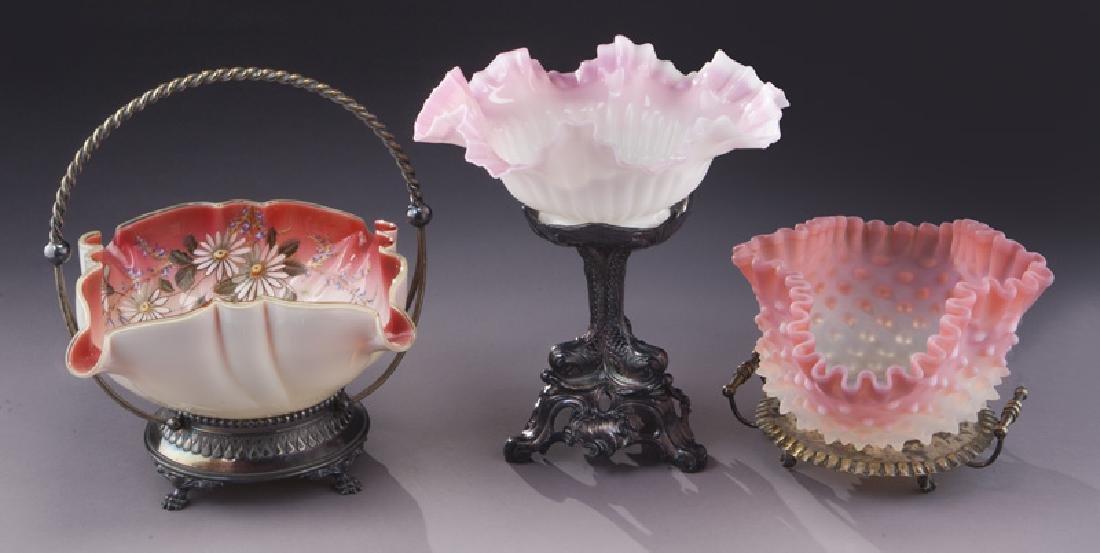 (6) Victorian bride's baskets, - 6