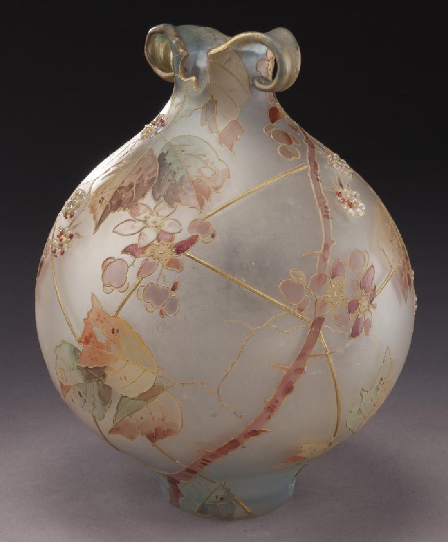 Mt. Washington Royal Flemish vase, - 2