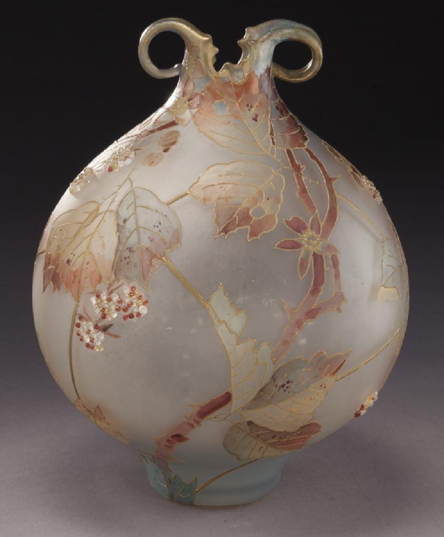 Mt. Washington Royal Flemish vase, - 4