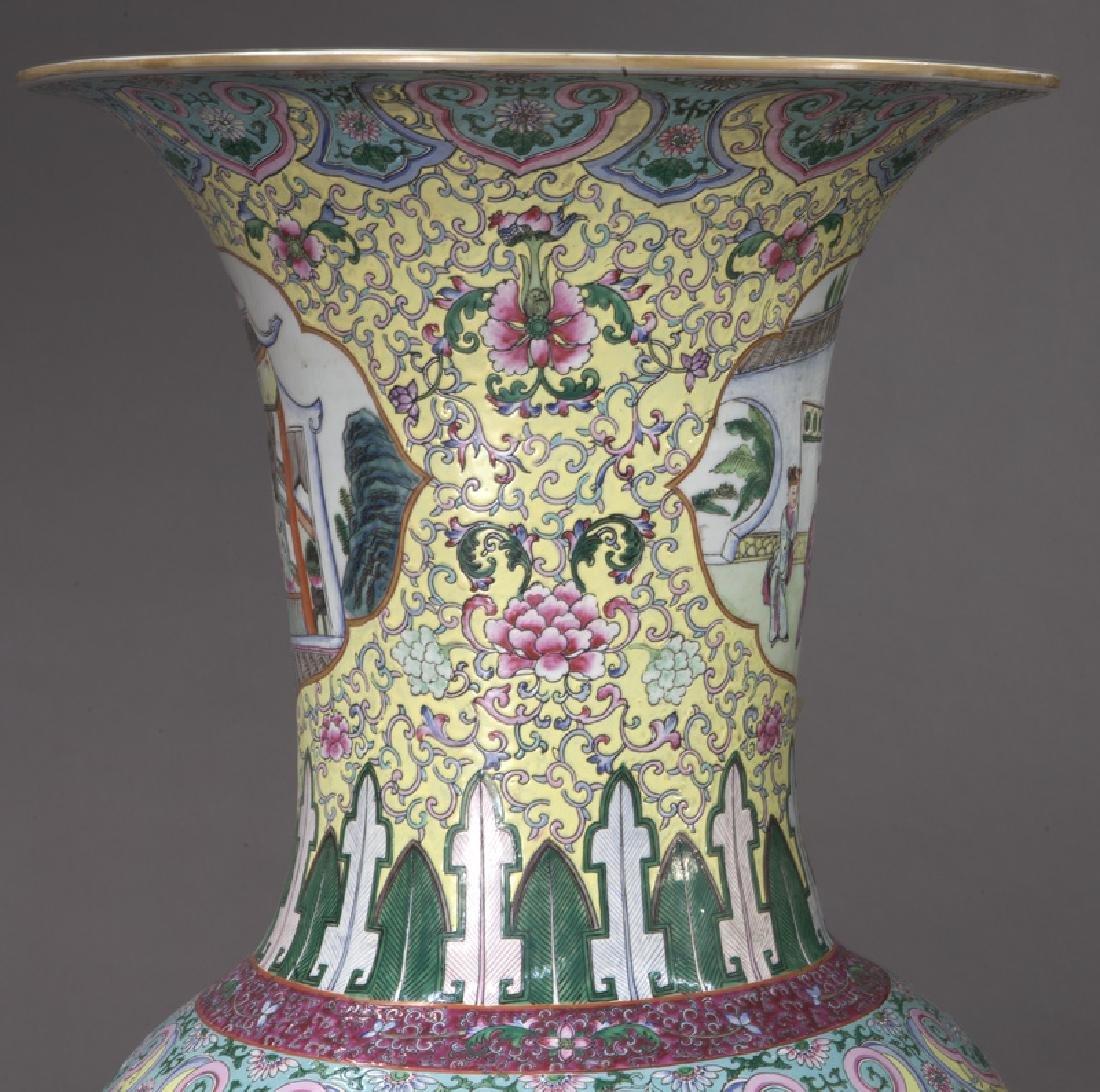 (2) Monumental Chinese urns, - 10
