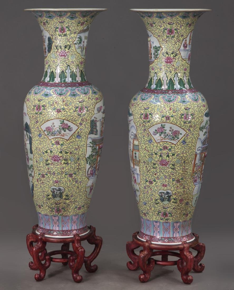 (2) Monumental Chinese urns, - 2