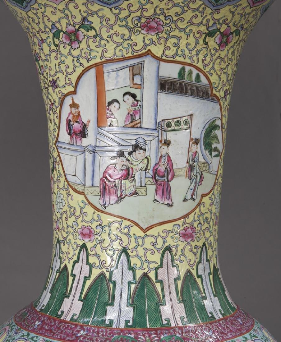 (2) Monumental Chinese urns, - 5