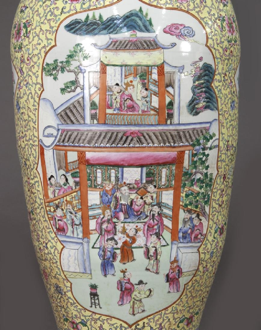 (2) Monumental Chinese urns, - 6