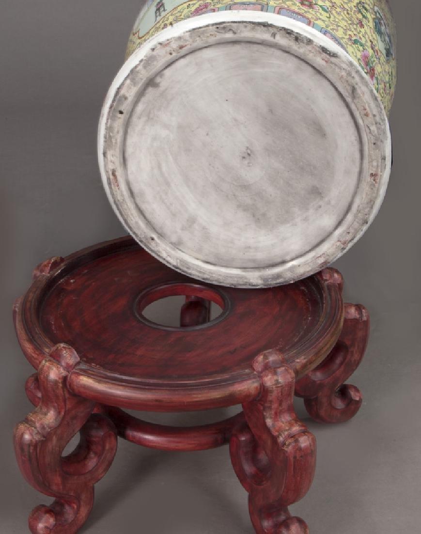 (2) Monumental Chinese urns, - 9