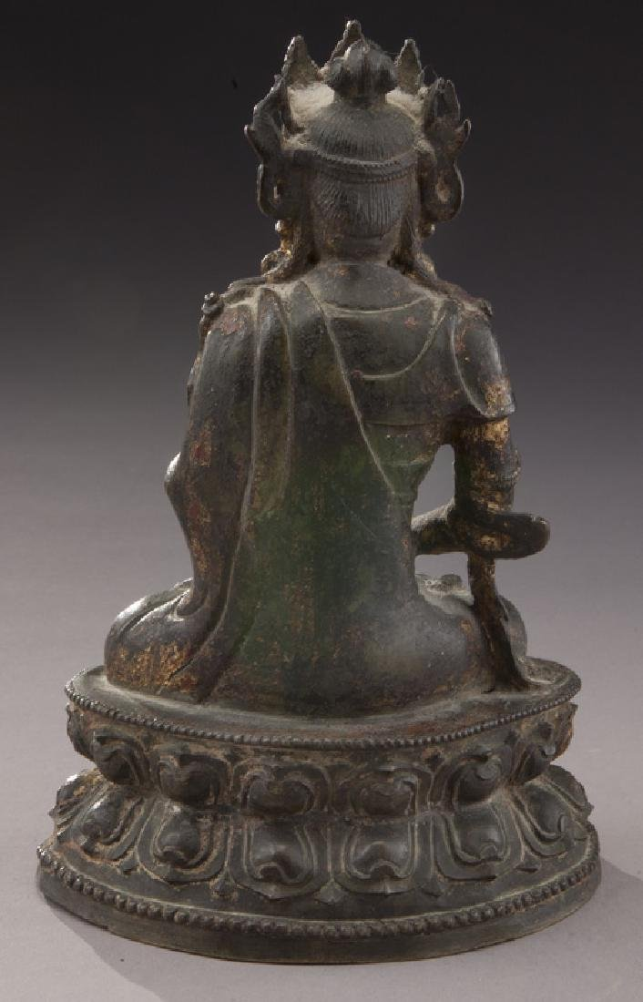 Chinese Ming gold lacquer bronze Buddha - 4