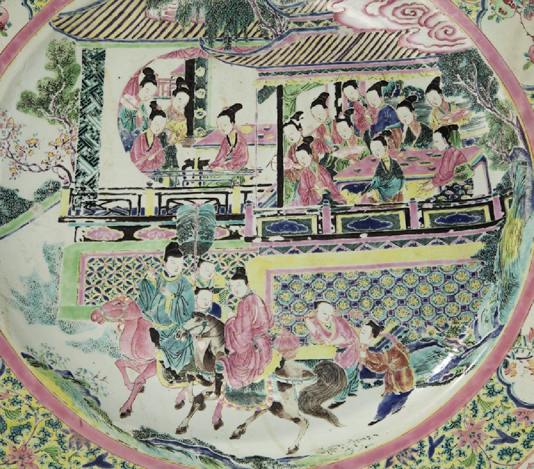 18th C. Chinese export famille rose charger. - 2