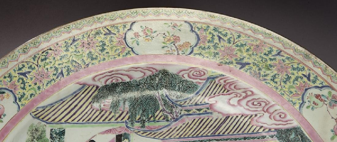 18th C. Chinese export famille rose charger. - 3