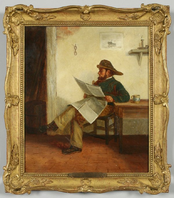 15: Charles Callcott oil painting on canvas, a
