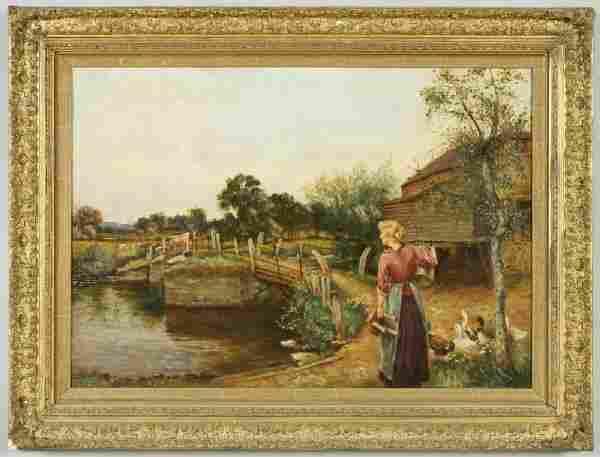 247: Henry John Yeend King oil painting on canvas,