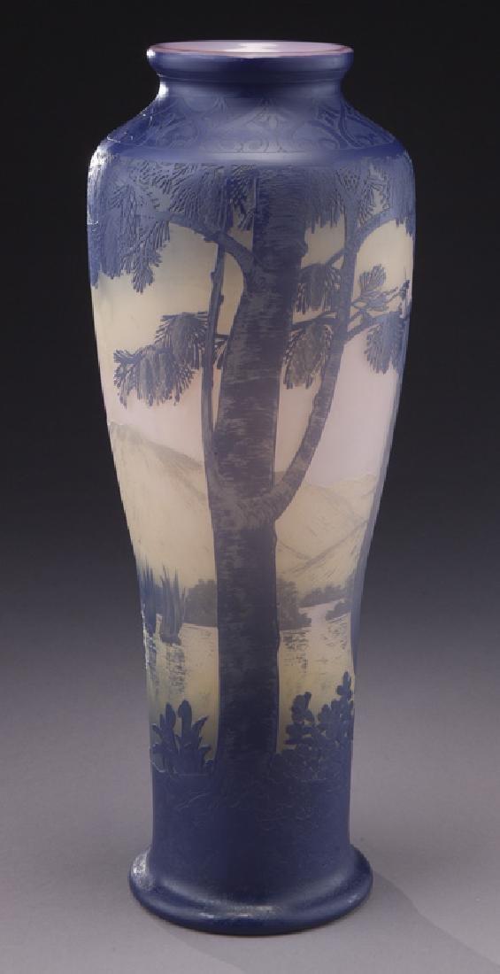 Monumental Devez French cameo vase,