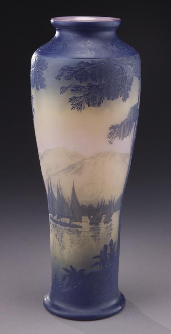 Monumental Devez French cameo vase, - 2