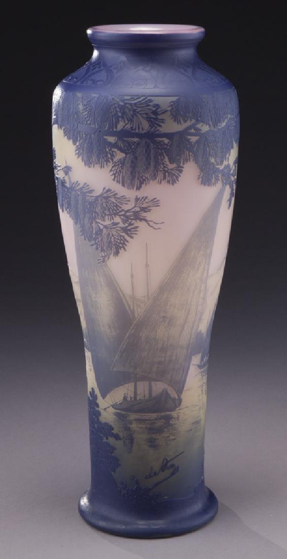 Monumental Devez French cameo vase, - 3