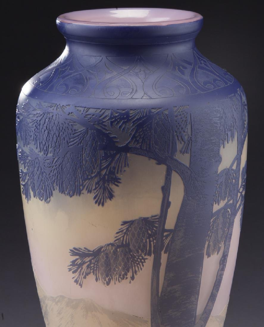 Monumental Devez French cameo vase, - 5