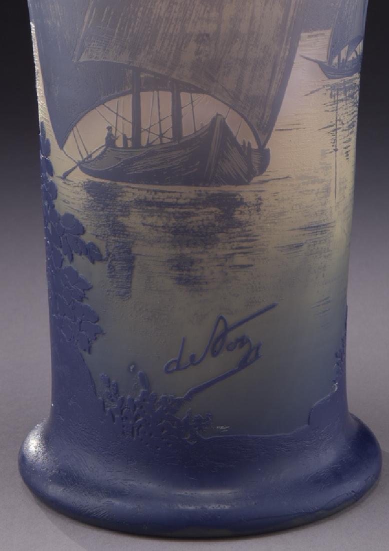 Monumental Devez French cameo vase, - 6