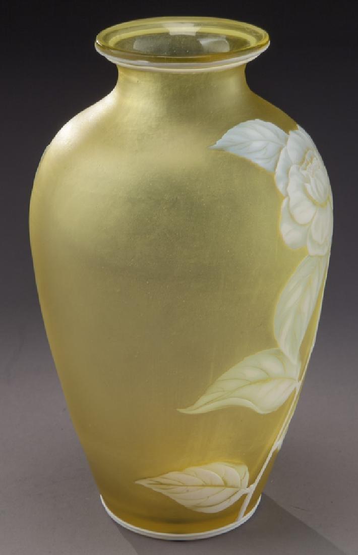 Webb cameo glass vase - 2