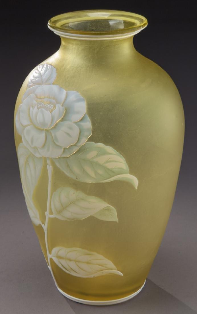 Webb cameo glass vase - 4