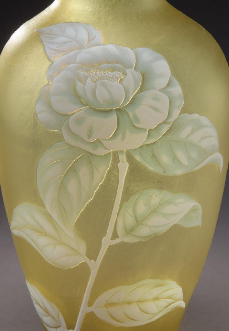Webb cameo glass vase - 5