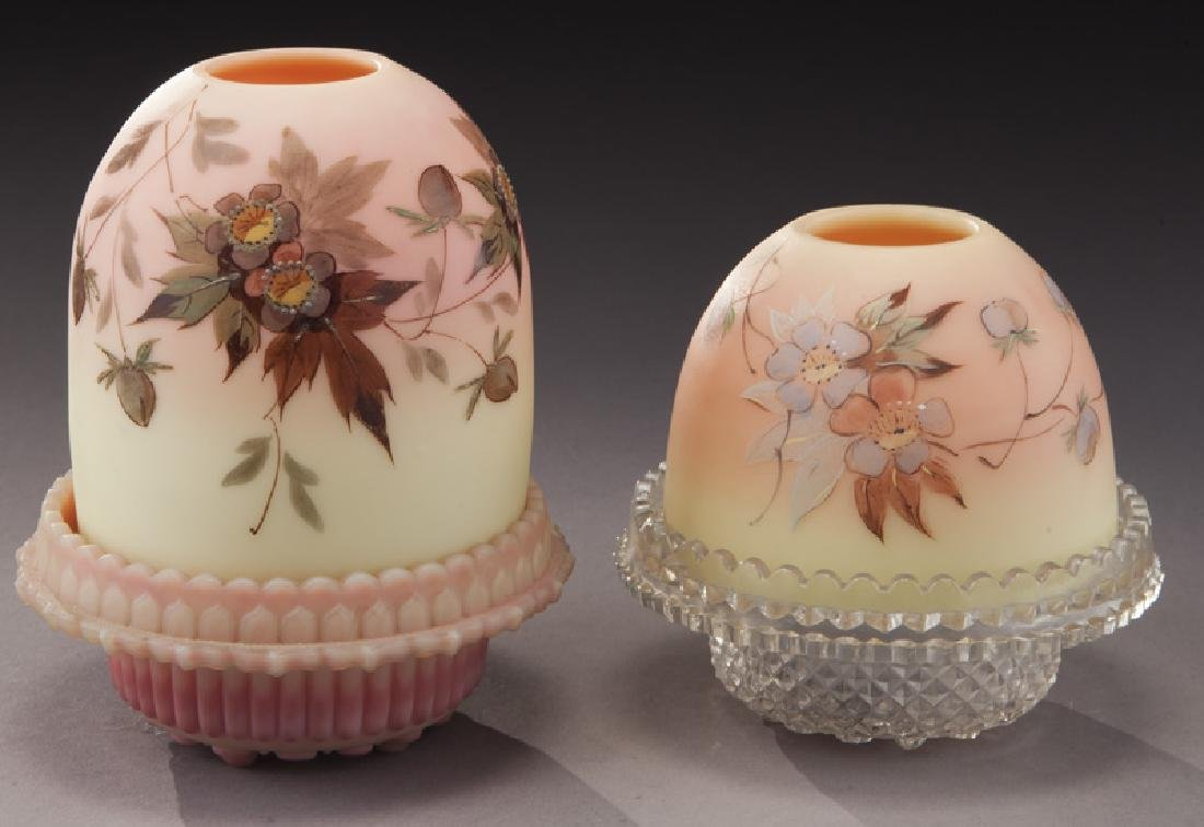 (4) Pcs. Burmese glass, - 2