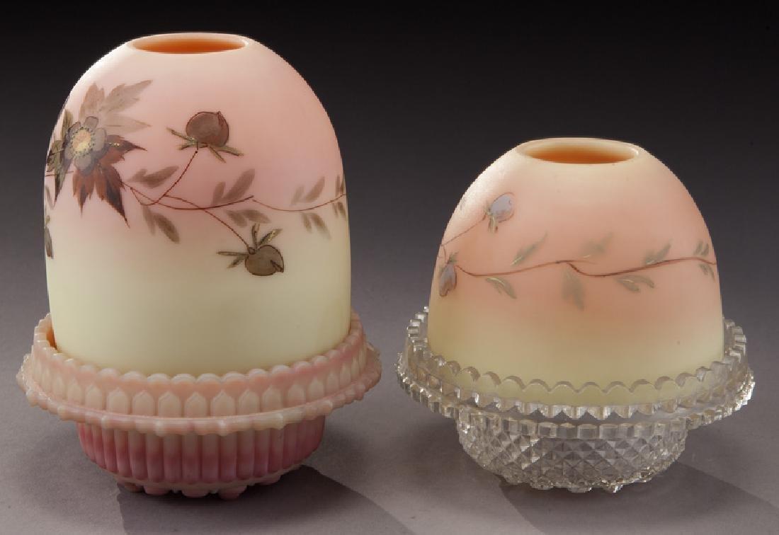 (4) Pcs. Burmese glass, - 3