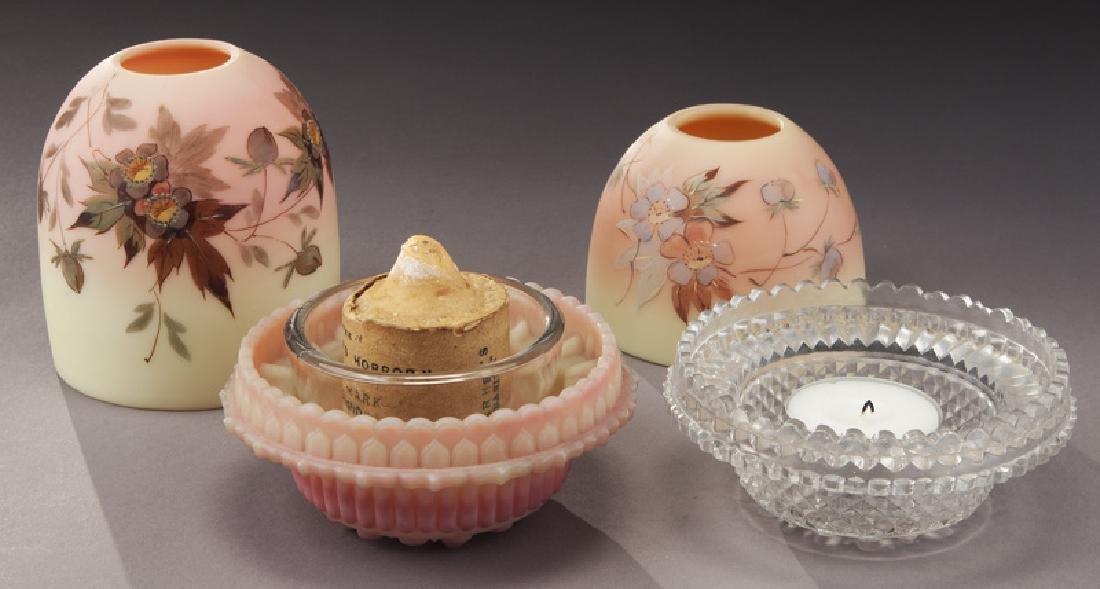 (4) Pcs. Burmese glass, - 4
